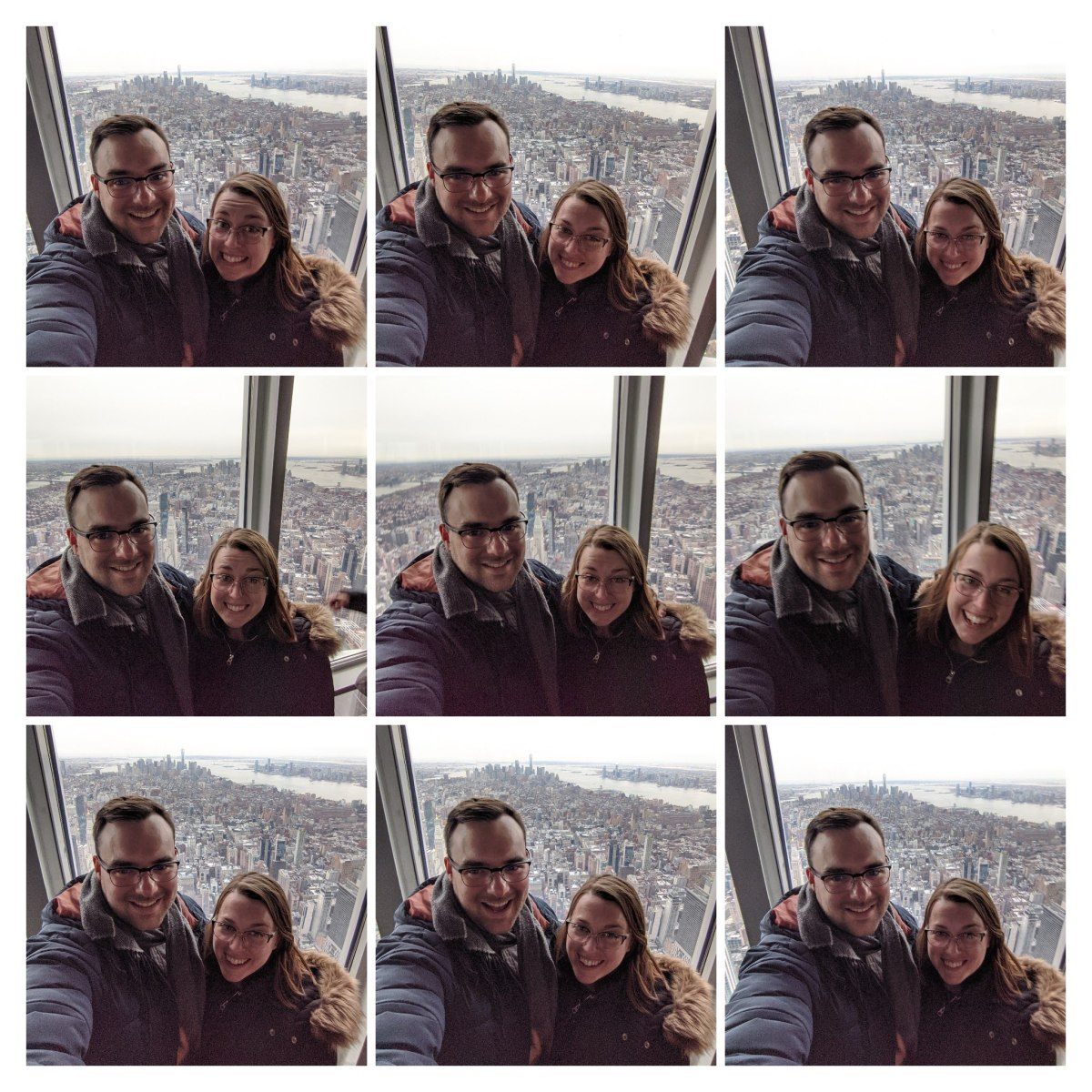 Stephanie and Dylan at the Empire State Building in New York during the last vacation we had in the U.S. before the pandemic.
